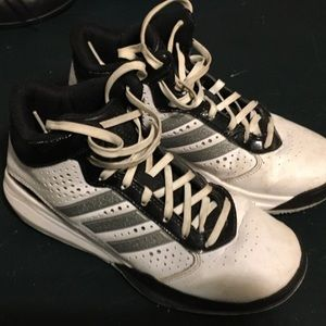Adidas white Basketball High Top Shoes size 4.5Y